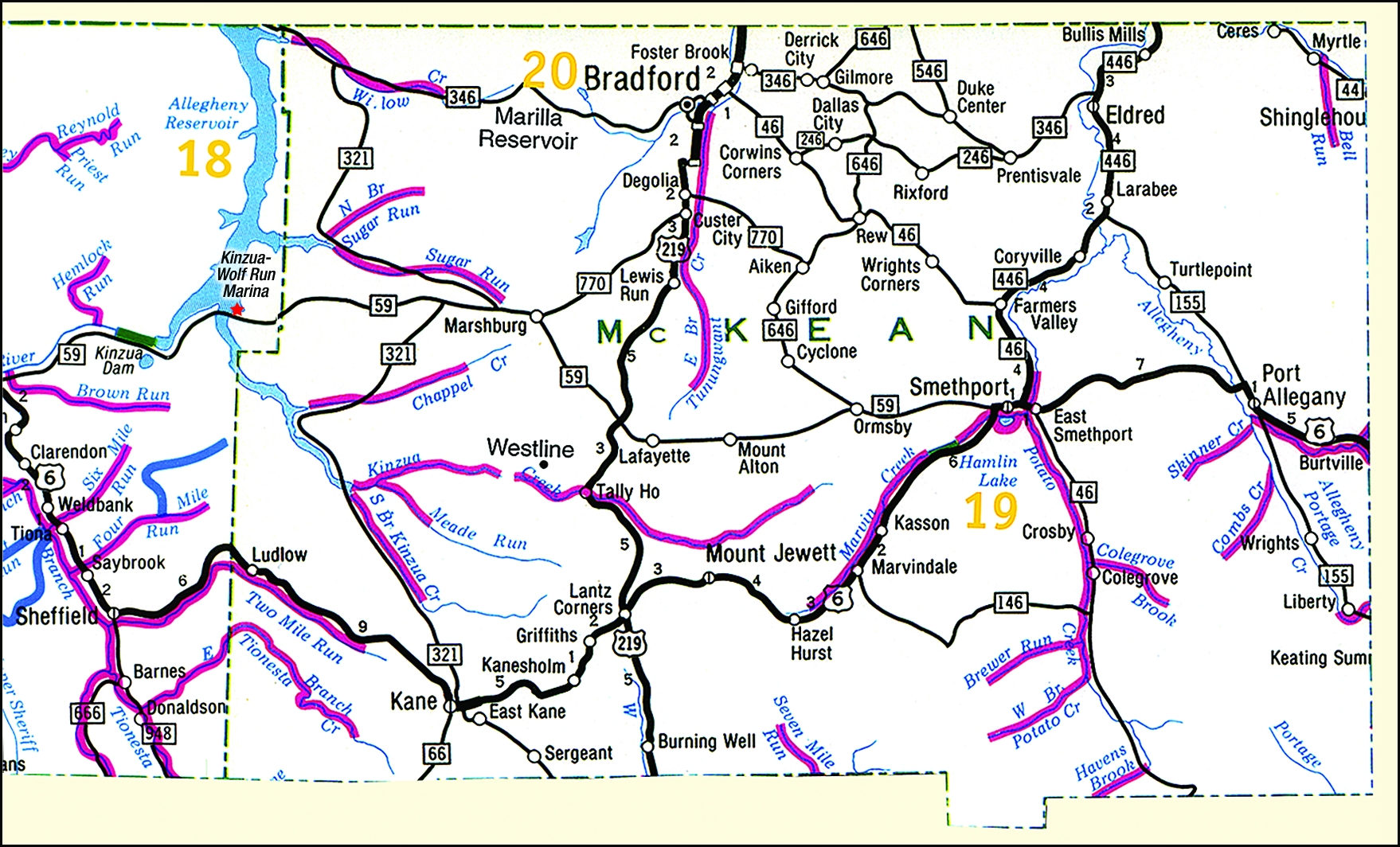 Amazing Allegheny National Forest Map
