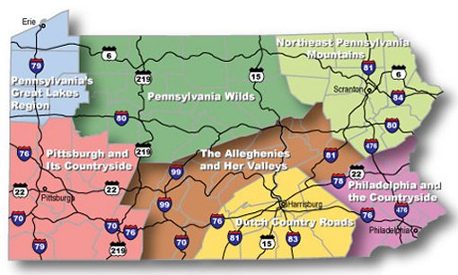 Mobile Page Allegheny National Forest Kinzua Pennsylvania - Detailed map of pa
