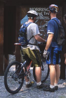 Mountain biking has increased in popularity so much that it's common to see bikers during all seasons.
