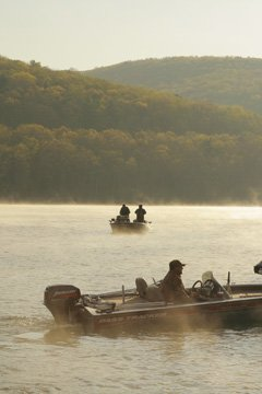 Boating on the Allegheny Reservoir