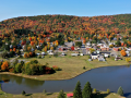Smethport, PA  (aerial view) - Autumn
