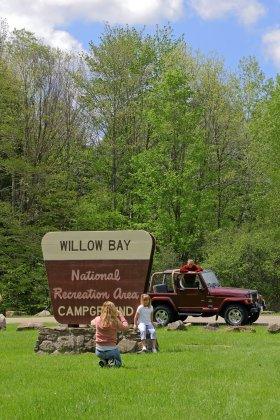 Camping at Willow Bay