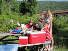 Picnic at Kinzua Bridge State Park - Mount Jewett, PA