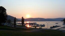 Kinzua Wolf Run Marina – Allegheny Reservoir - View of Marina at Sunset
